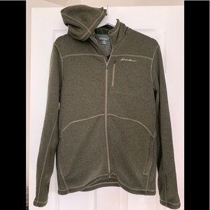 Men's Eddie Bauer fleece hooded jacket - Size M